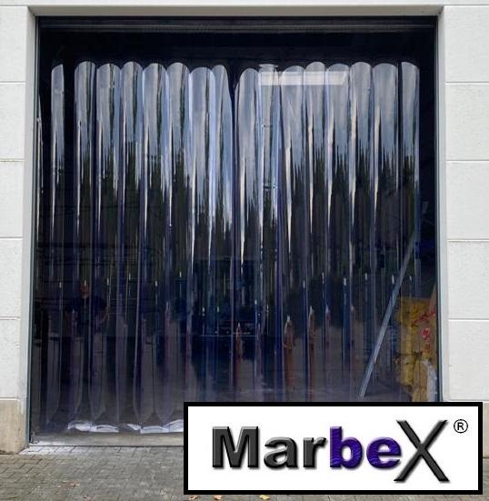 Plastikvorhang Transparent Lamellen Streifen für Tore, Hallen und Industrie