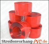 PVC Rollenware Rot transparent