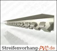 Streifenvorhang Aufhängung 1,00 Meter verzinkt