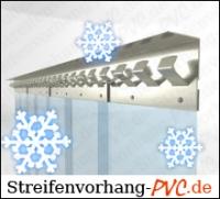 Tiefkühl PVC Streifenvorhang 2,00m Breite x 3,00m Länge
