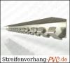 Streifenvorhang Aufhängung 1,00 Meter Edelstahl